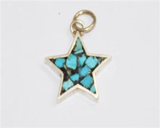 مدال توگردنی نقره فیروزه کوب نیشابور طرح ستاره