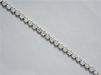 دستبند نقره گل Flower
