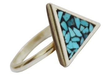 انگشتر فیروزه کوب نیشابور طرح مثلث