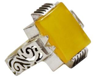 انگشتر شرف الشمس چهارگوش رکاب دست ساز فاخر