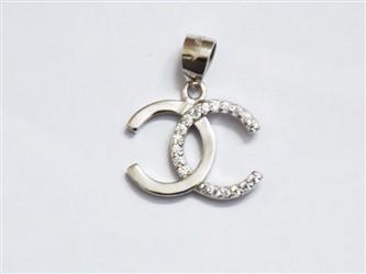 گردنبند نقره طرح channel جواهری آبکاری طلا سفید