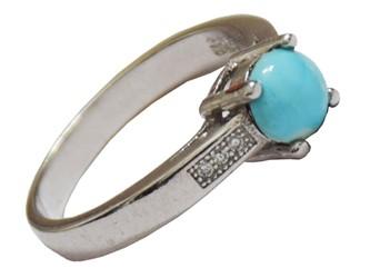 انگشتر نقره فیروزه نیشابور طرح جواهری ظریف