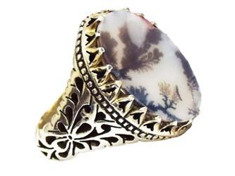 انگشتر نقره عقیق شجر رکاب شاه عباسی