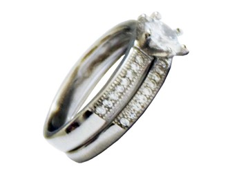 انگشتر نقره و حلقه پشت طرح جواهر