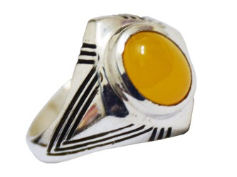 انگشتر نقره شرف الشمس رکاب قلم کاری شده طرح زاویه