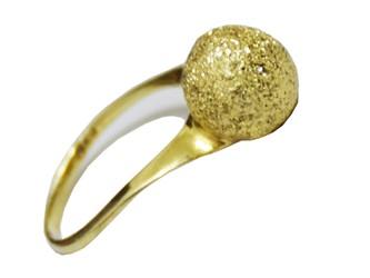 انگشتر نقره طرح گوی آبکاری طلا زرد با بالاترین عیار نقره 925