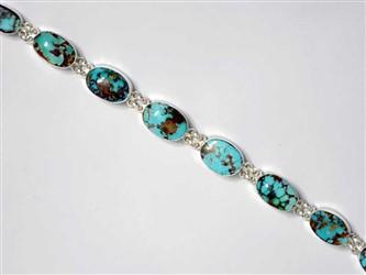 دستبند نقره فیروزه نیشابور شجر با بالاترین عیار نقره(925)