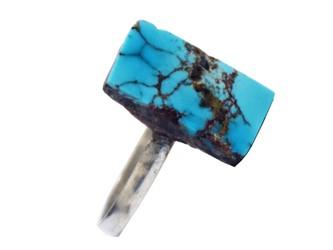 انگشتر نقره فیروزه نیشابور چهار گوش با عیار 925 (بالاترین عیار نقره) تضمین ثبات رنگ