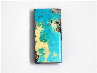 خرید آنلاین سنگ فیروزه نیشابورچهار گوش مستطیل آبی شجر مناسب برای انگشتر و گردنبند